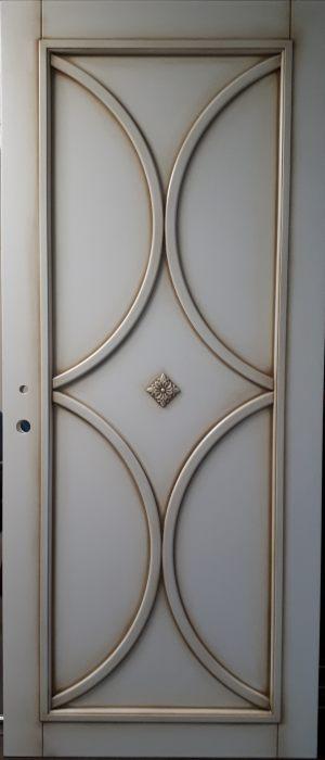 Межкомнатная дверь в профиле массив (эмаль с патиной) Краснодар