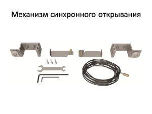 Механизм синхронного открывания для межкомнатной перегородки  Краснодар