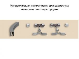 Направляющая и механизмы верхний подвес для радиусных межкомнатных перегородок Краснодар