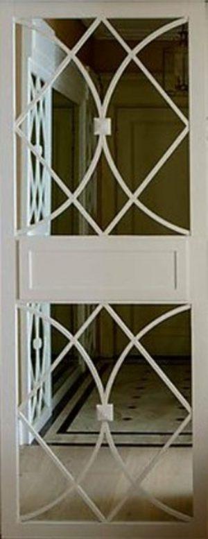Вставка с фигурной филенкой на зеркале эмаль Краснодар